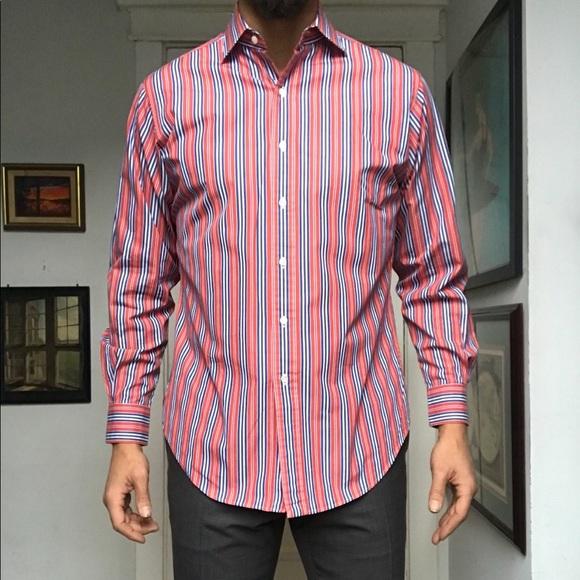 a4d66f71c Polo Ralph Lauren Regent Poplin Stripe Dress Shirt.  M 5c400d60baebf662bf0b879a